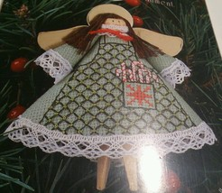Angel Tree Ornament 1464 Apron Counted Cross Stitch Christmas 9233 3.75 x 3.75 - $17.77