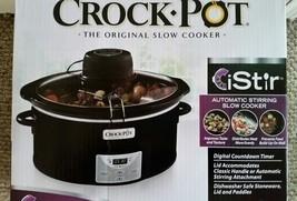 Crock-Pot 6 Qt Black Oval Programmable Digital Slow Cooker - New / Sealed - $55.27