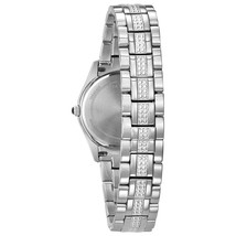 Bulova Women's Stainless Steel Crystal Watch 96L116 image 2