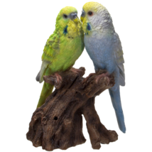 Pacific Giftware Parakeets Perching on Branch with Motion Activated Bird... - $39.59