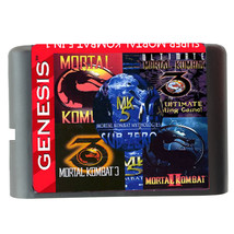 Mortal Kombat 1 2 3 4 5 For SEGA GENESIS MegaDrive 5 In 1 Game cartridge - $14.72