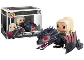 Game of Thrones Daenerys & Drogon Dragon Vinyl POP! 6 Inch Figure Toy #1... - $28.98