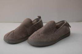 Club Room Men's M 8-9 Size Slippers Moccasin Foam Gray Macy's RN#73639 - $19.79
