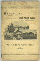 NH Report Old Home Week 1899 book towns ephemera Bachelder - $65.00