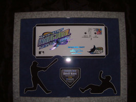 TAMPA BAY DEVIL RAYS MLB INAUGURAL FIRST DAY COVER PLAQUE  - $75.00
