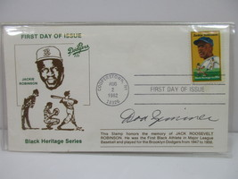 Don Zimmer Brooklyn Dodgers hand signed Jackie Robinson First Day Cover ... - $29.99