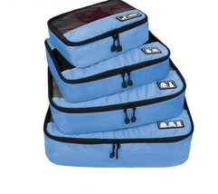 Cubes Travel Luggage Organizers 4 Set Packing Laundry Bags Breathable St... - $741,60 MXN