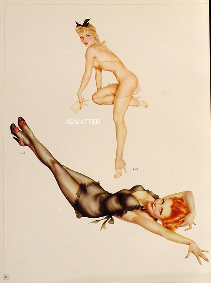 Vintage Vargas 1941/1942 Pin-up Girls  2-sided Print check1234