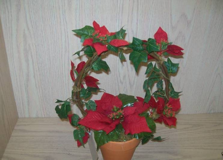 Presidents Club Holiday Gift Poinsettia In Clay Pot  Avon 2001 New
