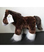 """NWT Build A Bear Clydesdale Horse Plush WITH SOUND Stuffed Animal 15"""" - $18.99"""