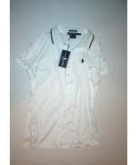 NWT $90 New Womens Ralph Lauren Golf Shirt Top Polo M Dark Blue White Ca... - $49.00