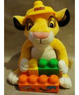 "Disney 11"" Lion King Simba Construction Mega Blocks Hat Plush Stuffed Toy - $18.99"