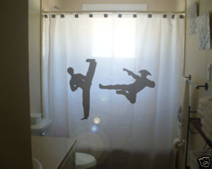 SHOWER CURTAIN Martial Arts Fight kung fu karate judo