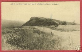 Keweenaw Mountain Drive County MI 1953 Postcard BJs - $6.50