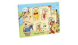 Winnie The Pooh Wooden Puzzle Tray, Milly & Flynn 7 Piece Childrens Gift - $18.69