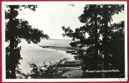 Gaylord Mi Otsego Lake Boats RPPC Postcard MI - $7.50