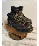 Dr Martens Mens 10 9728 Leather Boots Round Toe Air Made In England - $47.29