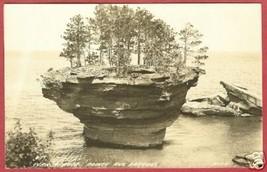 Pointe Aux Barque Mi Turnip Rock RPPC Pt Austin BJs - $10.00