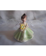 Vintage Josef Originals Figurine with Pretty green stone - $30.00