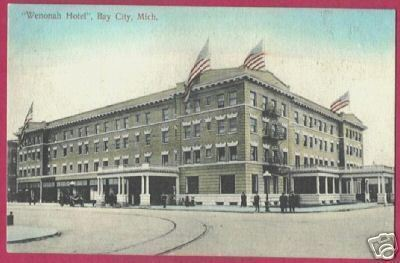 Primary image for Bay City Mi Wenonah Hotel Flags Michigan Germany BJs