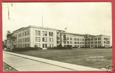 Primary image for Dearborn Mi Ford Motor Offices Rouge RPPC Postcard BJs