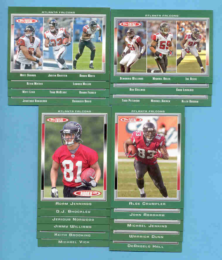 2006 Topps Total Atlanta Falcons Football Team Set
