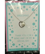 Brides Maid Cultured Fresh Water Pearl & Sterling Silver Heart Necklace ... - $18.61