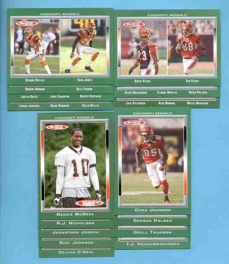 2006 Topps Total Cincinnati Bengals Football TeamSet