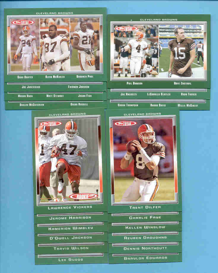 2006 Topps Total Cleveland Browns Football Team Set