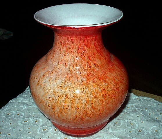 Orange vase 11