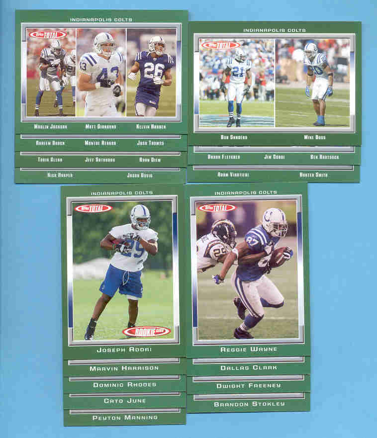 2006 Topps Total Indianapolis Colts Football Set