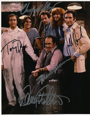 Taxi Cast Signed Photo Christopher Lloyd Tony Danza  Danny DeVito Hirsch Henner