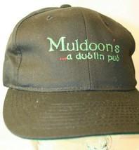 Muldoon's a dublin pub black green logo Dad Trucker snapback Hat Cap Yup... - $19.95
