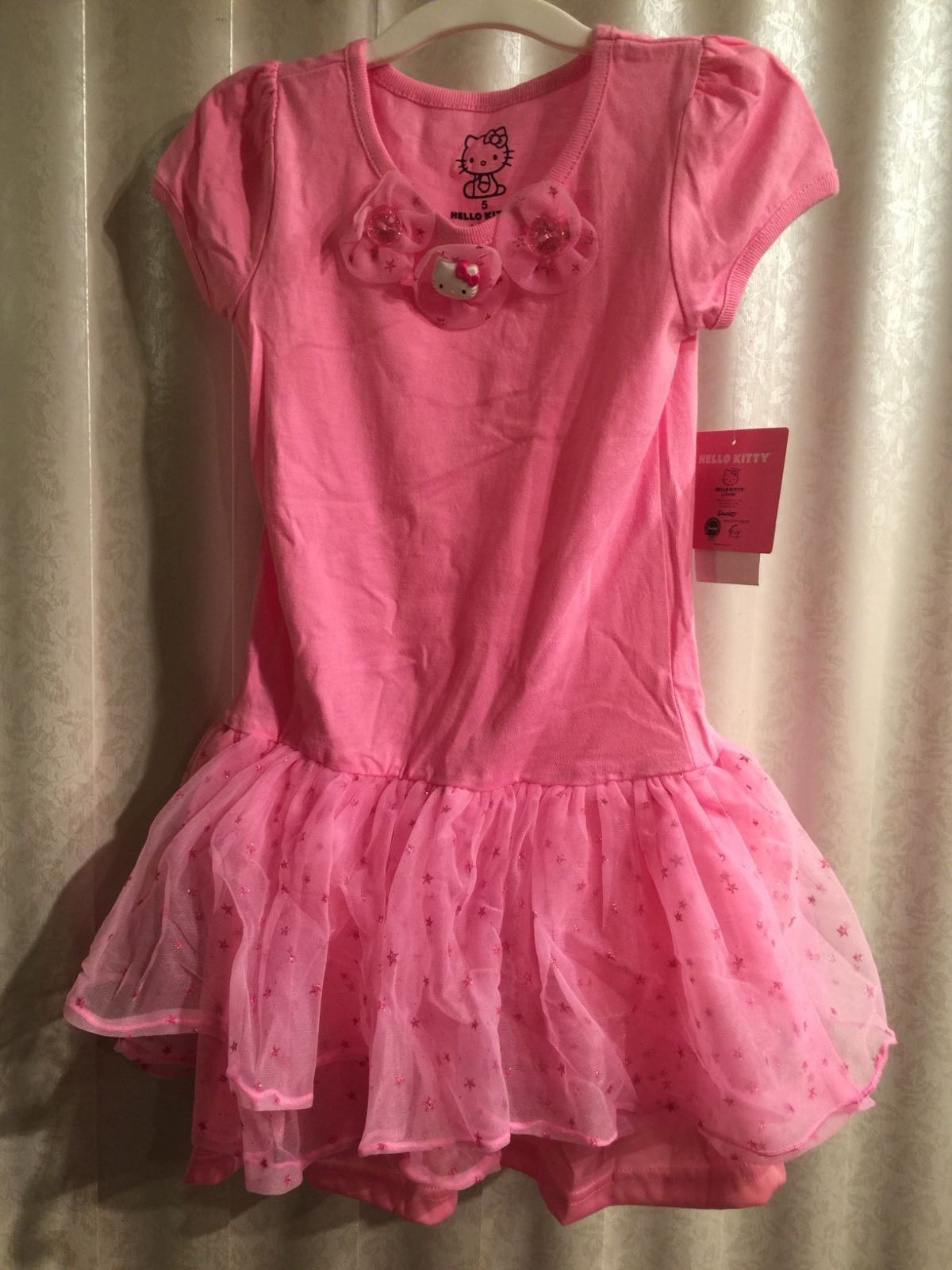 87a6a39e1 Hello Kitty Pink Ruffle Girls Dress Sparkle and 19 similar items