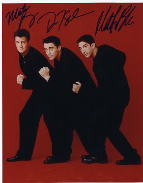 Friends cast signed photo LeBlanc Perry Schwimmer