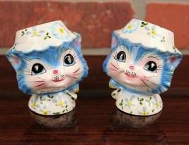 Miss Priss Kitty Salt and Pepper Set Vintage 1950s Lefton Japan - $70.00
