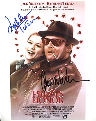 Prizzis Honor signed photo Jack Nicholson Kathleen Turner