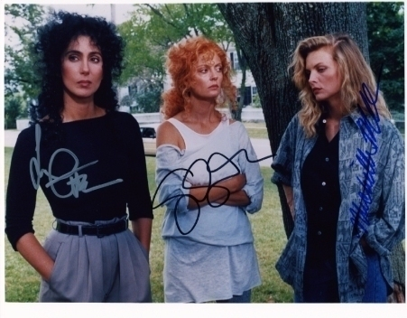 witches of eastwick cast signed photo Cher Pfeiffer Saran