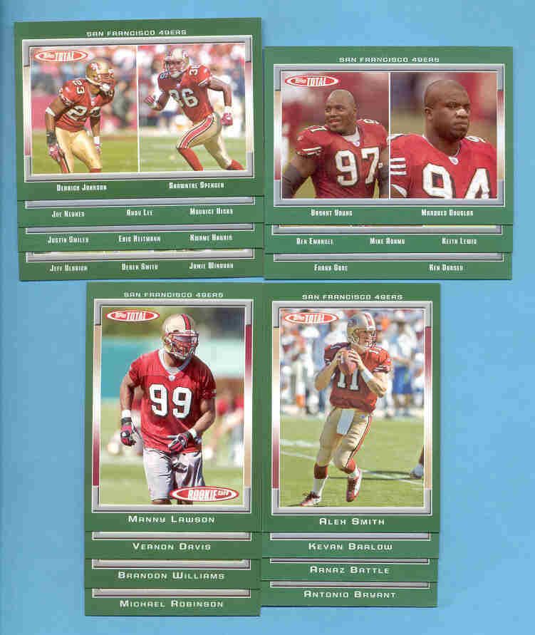 2006 Topps Total San Francisco 49ers Football Team Set
