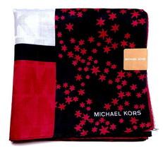 MICHAEL KORS Handkerchief hanky scarf bandana L Star Cotton Pink Auth New - £22.06 GBP