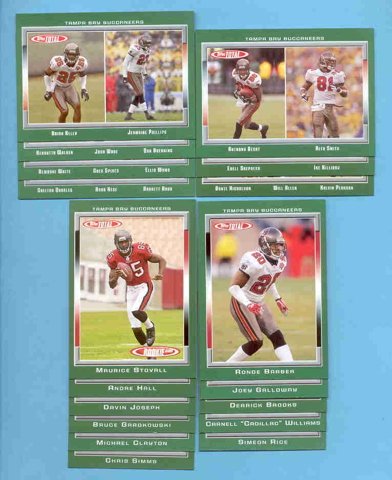 2006 Topps Total Tampa Bay Buccaneers Football Set
