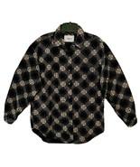 Vision I Vintage 80's Ladies Diamond Pattern Cotton Corduroy Button Shir... - $23.81