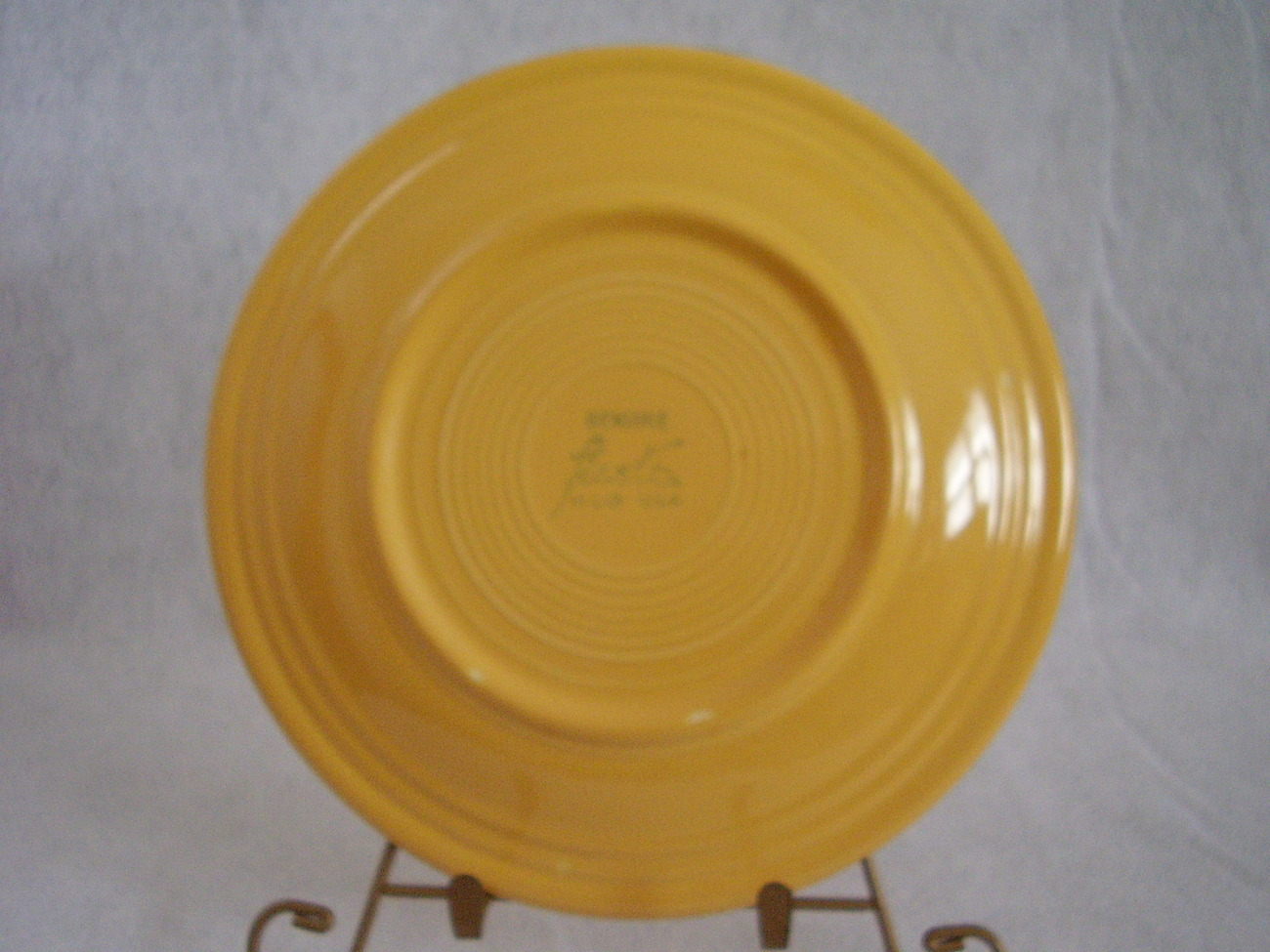 Vintage Fiestaware Yellow Lunch Plate Fiesta  C