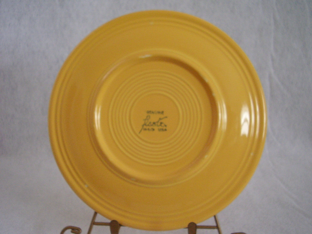 Vintage Fiestaware Yellow Lunch Plate Fiesta  B