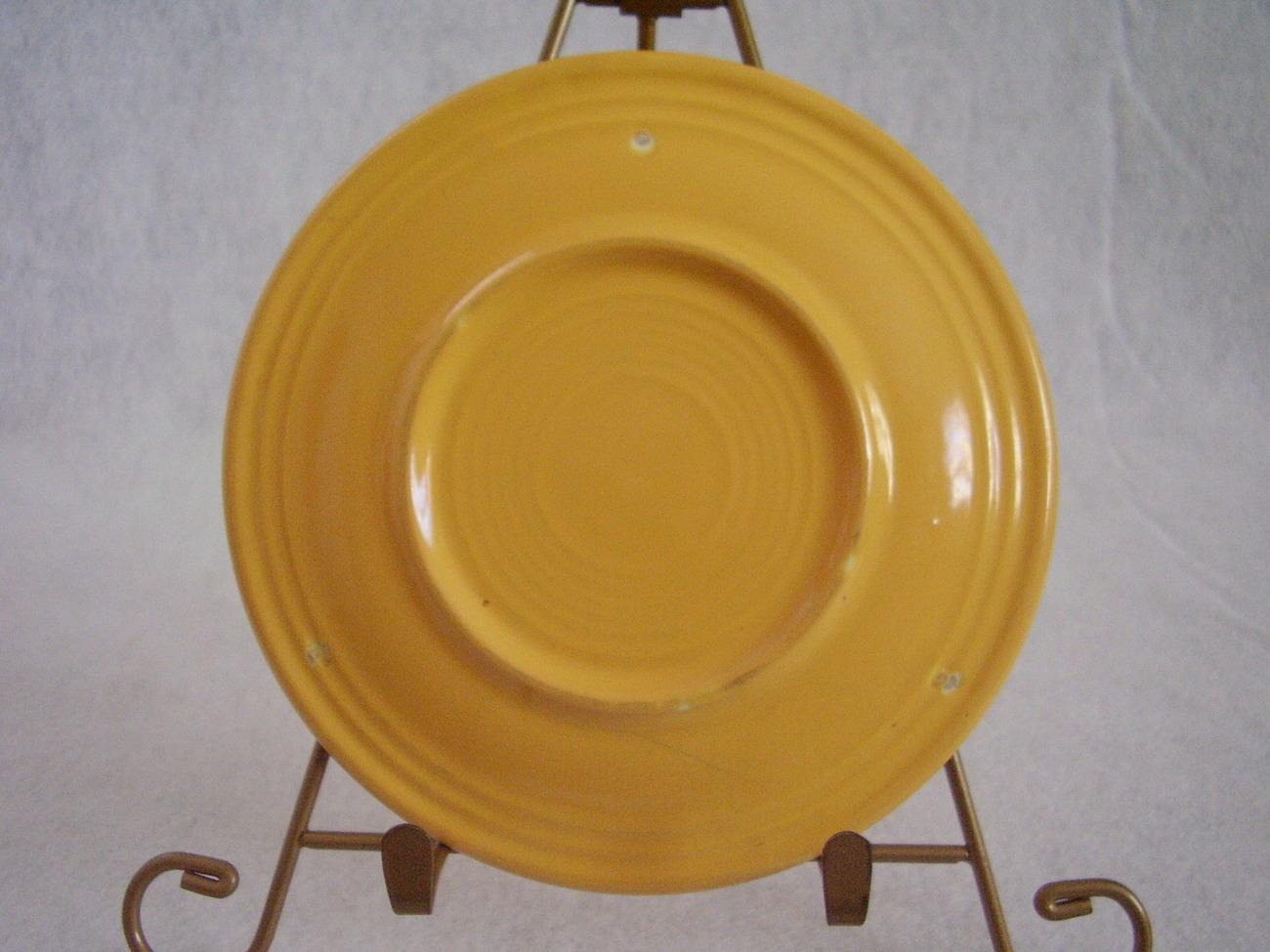 Vintage Fiestaware Yellow Bread Butter Plate Fiesta  D