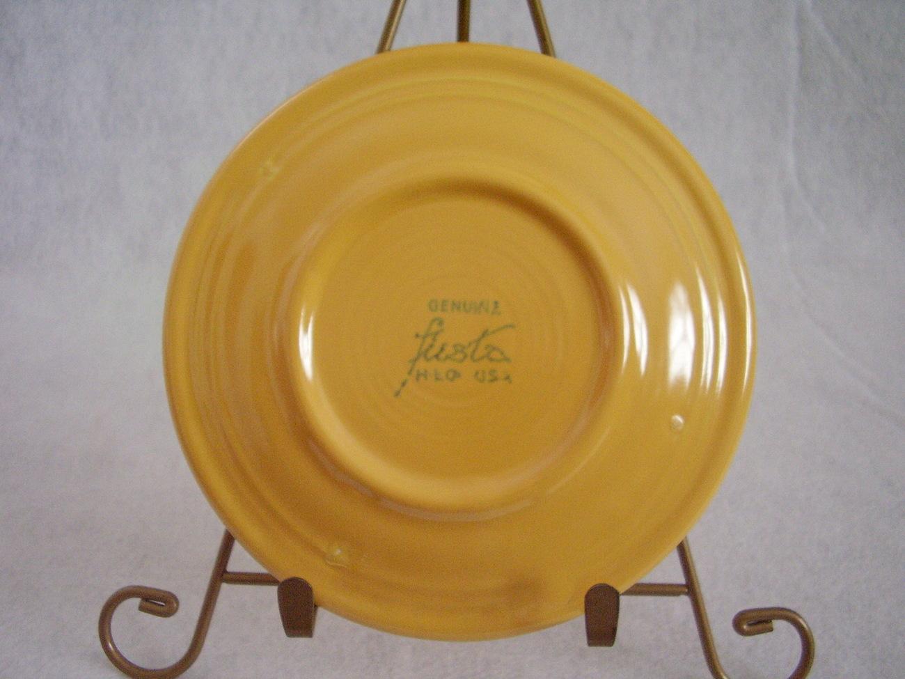 Vintage Fiestaware Yellow Bread Butter Plate Fiesta  A