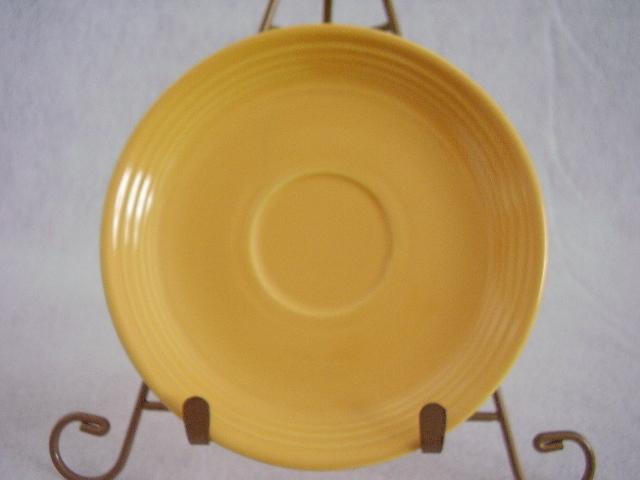 Vintage Fiestaware Yellow Teacup Saucer Fiesta  B