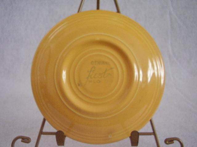 Vintage Fiestaware Yellow Teacup Saucer Fiesta  A