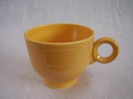 Vintage Fiestaware Yellow Ring Handle Teacup Fiesta B - $26.73