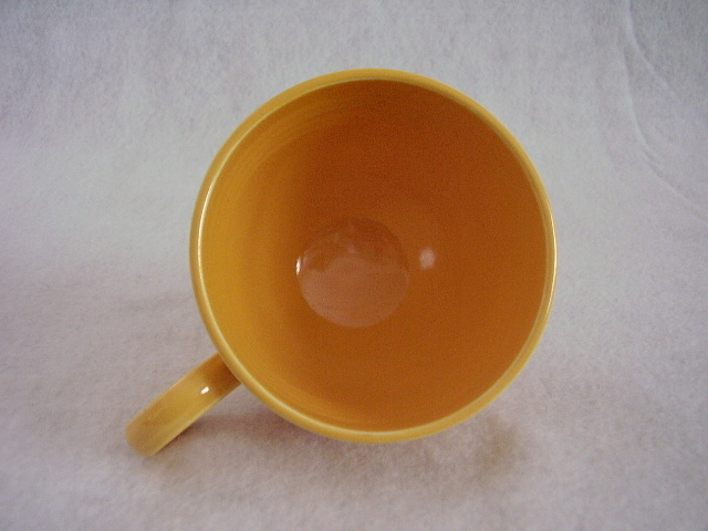 Vintage Fiestaware Yellow Ring Handle Teacup Fiesta B